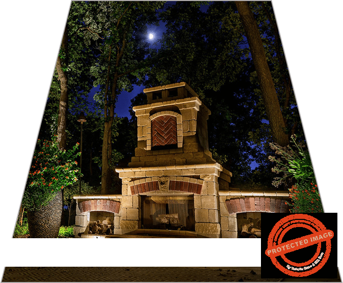 Lighting Design for Outdoor Fireplace