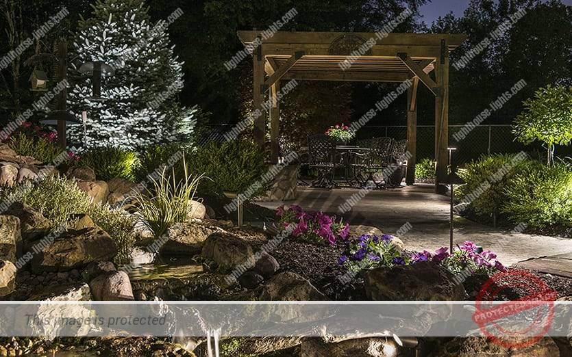 Outdoor Lighting Scen in Beautiful Garden
