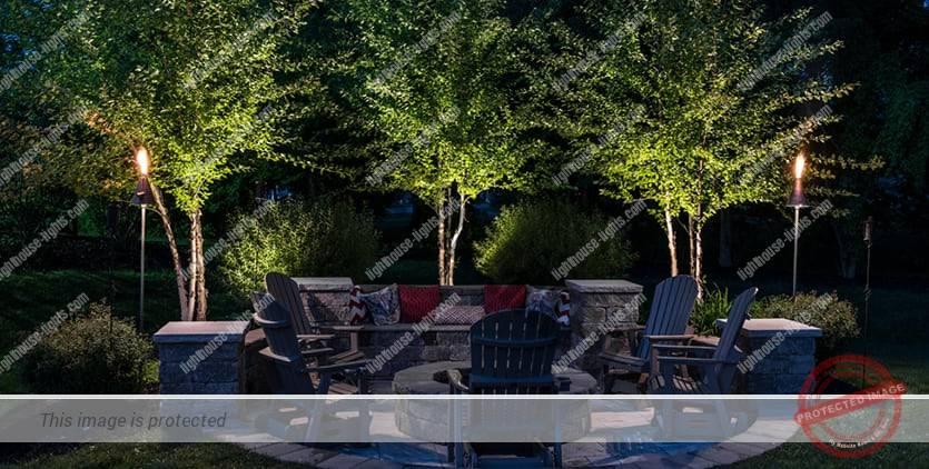 Outdoor Lighting for an Outdoor Living Space