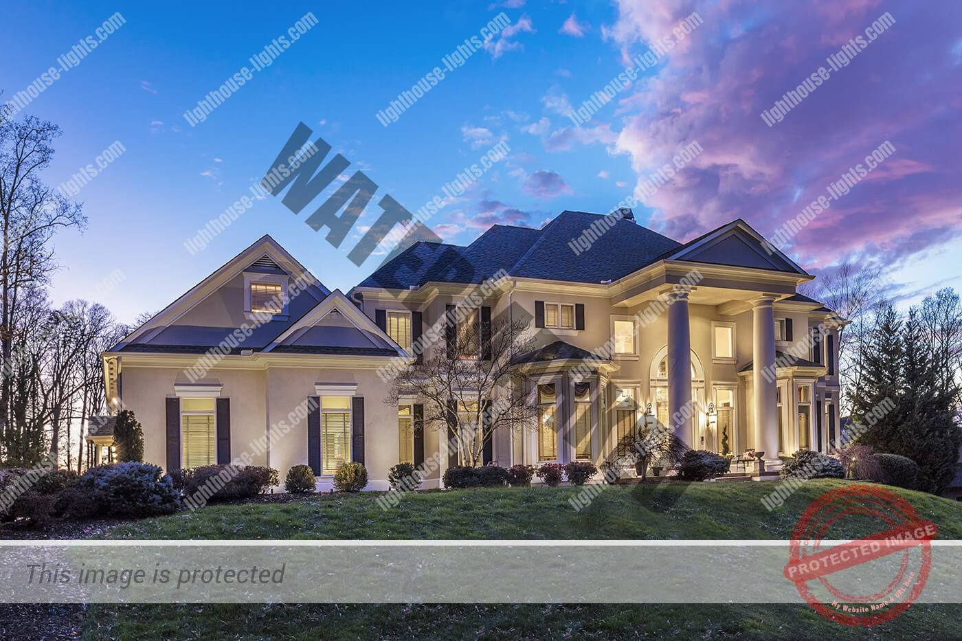 Architectural lighting on home in Gettysvue Subdivision Knoxville