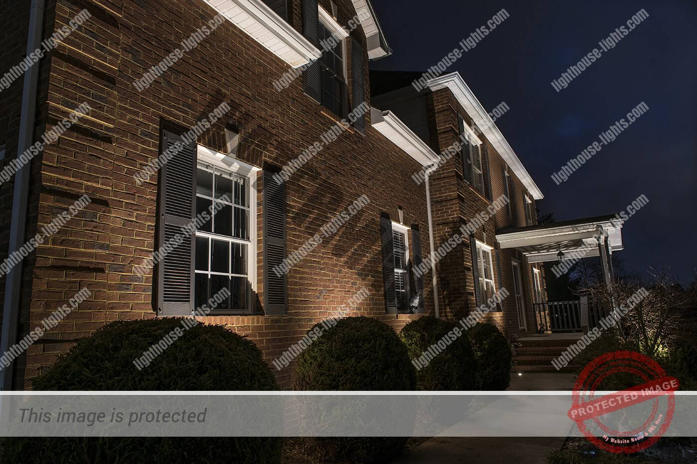 Architectural Lighting on Home in Nine Oaks Subdivision North Knoxville