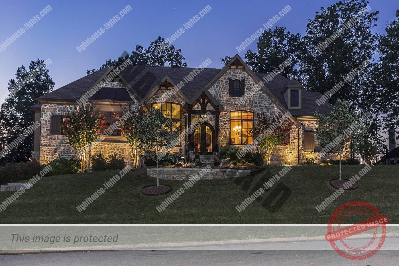 Home with Architectural Lighting in Farragut TN